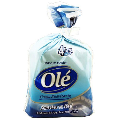 Jabón Tocador Ole 4 Pack Crema Suavizante 70 Gr