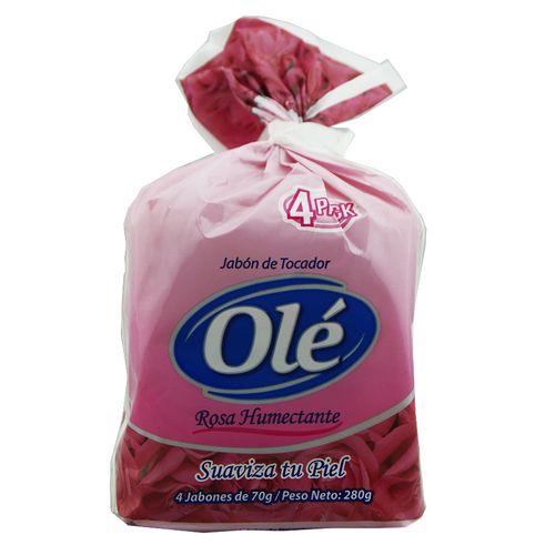 Jabón Tocador Ole 4 Pack Rosa Humectante 70 Gr