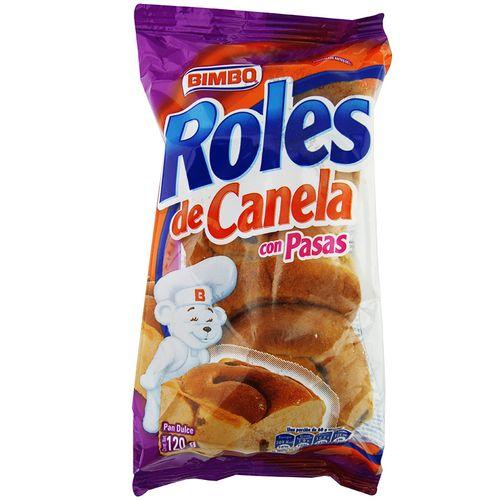 Roles De Canela Bimbo Con Pasas 120 Gr