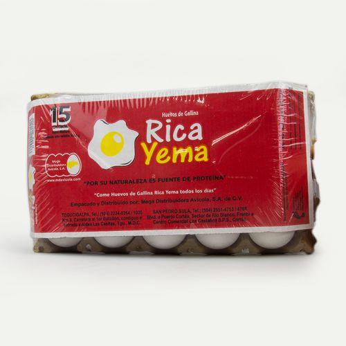 Huevos Medianos Rica Yema 15 Un