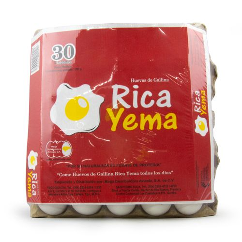 Huevos Medianos Rica Yema 30 Un