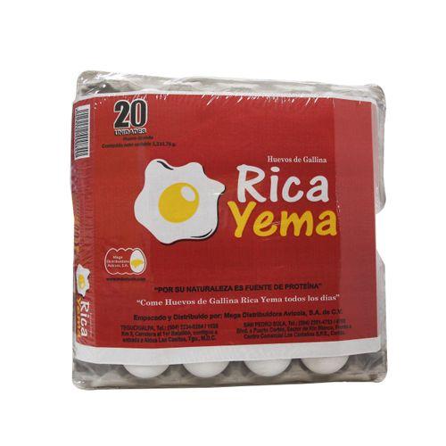 Huevos Grandes Rica Yema 20 Un