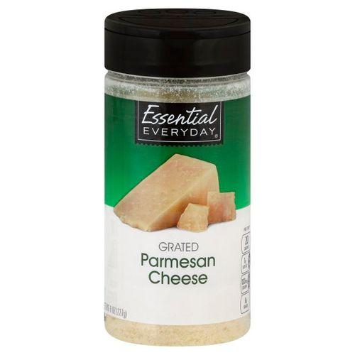Queso Parmesano Essential Everyday Rallado En Bote 8 Oz