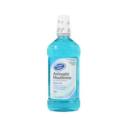 Enjuague Bucal Premier Value Blue Mint 500 Ml