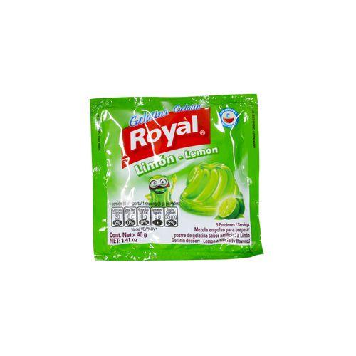 Gelatina Royal Sabor Limón 40 Gr