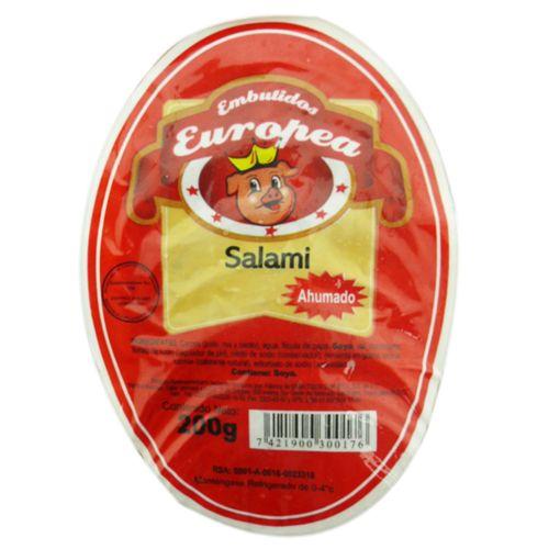 Salami Europea Ahumado 200 Gr