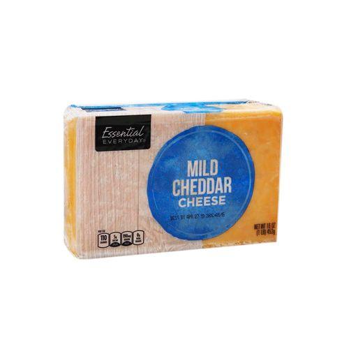 Queso Cheddar Essential Everyday En Bloque 16 Oz