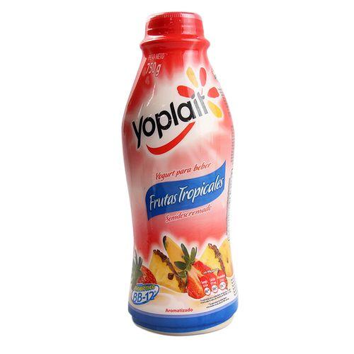 Yogurt Yoplait Semidescremado Sabor Frutas Tropicales 750 Gr