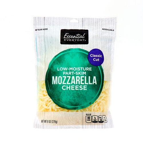 Queso Mozzarella Essential Everyday Rallado Fino 226 Gr