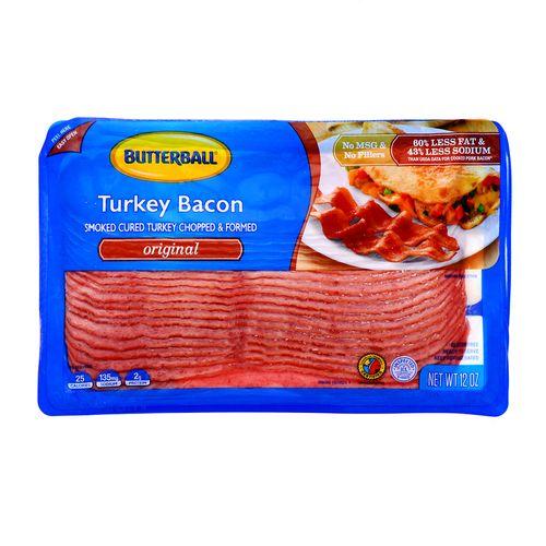 Bacon Butterball De Pavo Original 12 Oz