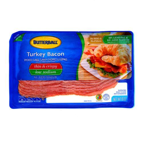 Bacon Butterball De Pavo Bajo En Sodio 6 Oz