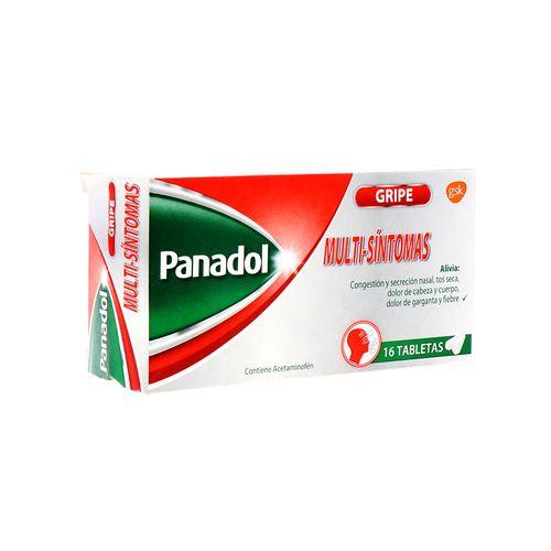 Tableta Panadol Gripe Multi-Sintomas 16 Un