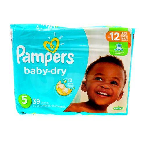 Pañal Bebé Pampers Baby-Dry 5 Extra Absorbente 5 39 Un