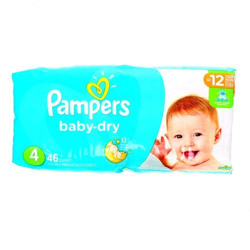 Pañal Bebé Pampers Baby-Dry Extra Absorbente 4 46 Un