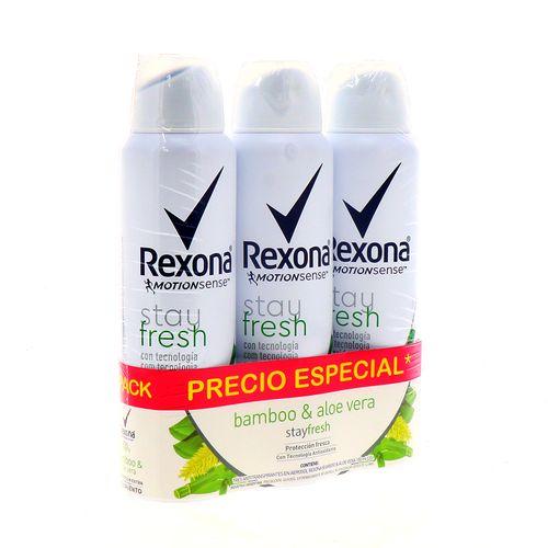 Desodorante Spray Rexona Msense Bamboo Pack 3 Un X 150Ml
