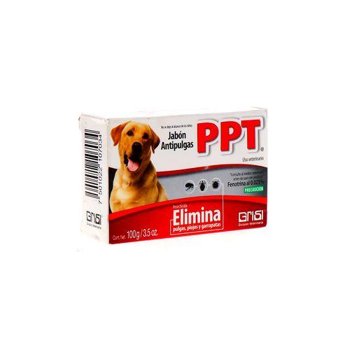 Jabón Para Perro Ppt Antipulga 100 Gr