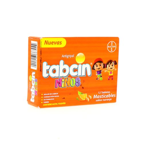 Tableta Tabcin Niños Antigr Masticable 12Un