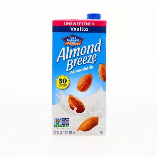 Bebida De Almendra Blue Diamond Sin Azúcar De Vainilla 32 Oz