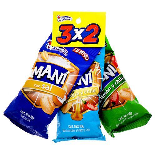 Maní Yummies 3X2 80 Gr