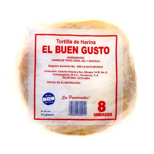 Tortillas De Harina El Buen Gusto 8 Un