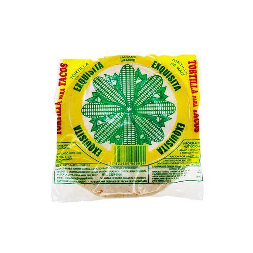 Tortillas De MaízExquisita Para Tacos 224 Gr