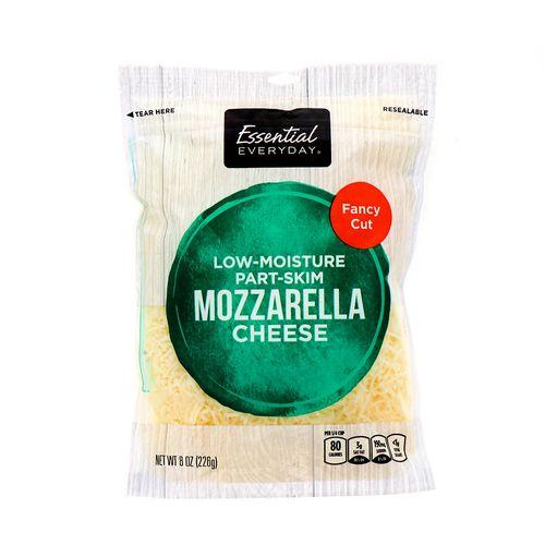 Queso Mozzarella Essential Everyday Rallado Grueso 226 Gr