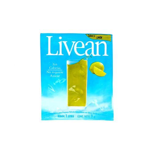 Bebida En Polvo Livean Sabor Limón 9 Gr