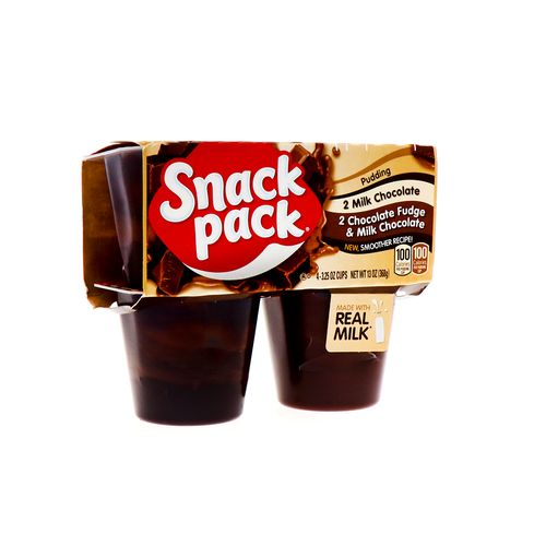 Pudding Snack Pack Variedad De Chocolate Con Leche 4 Pack