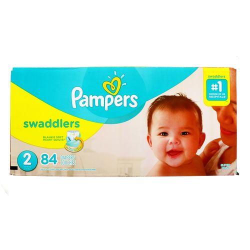 Pañal Bebe Pampers Swaddlers S2 84 Un