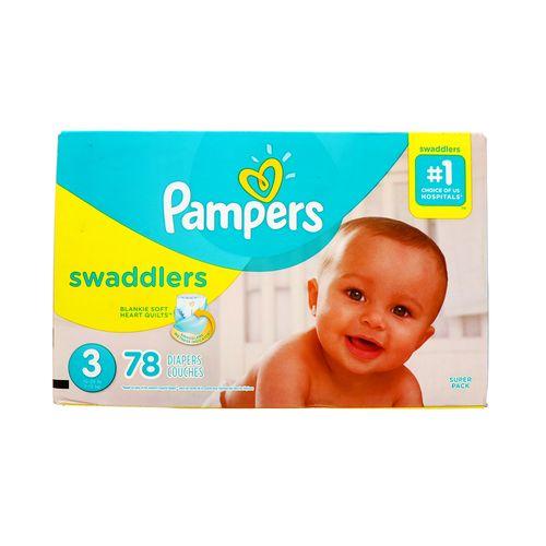 Pañal Bebe Pampers Swaddlers S3 78 Un