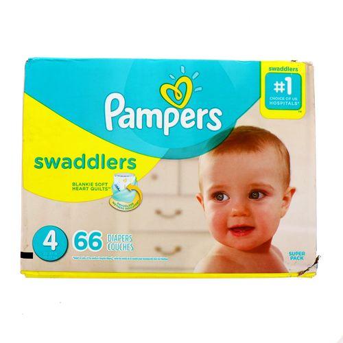 Pañal Bebe Pampers Swaddlers S4 66 Un
