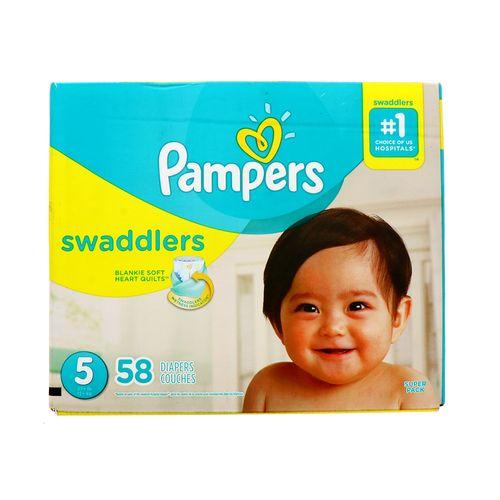Pañal Bebe Pampers Swaddlers S5 58 Un