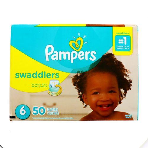 Pañal Bebe Pampers Swaddlers S6 50 Un