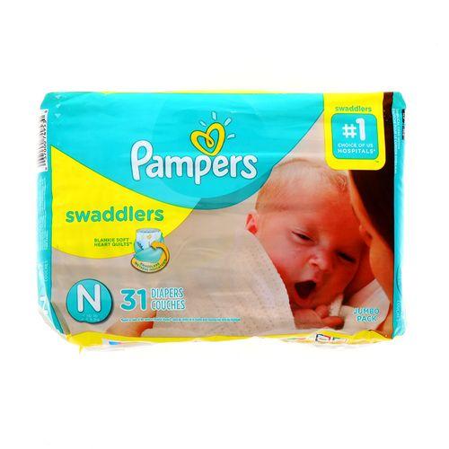Pañal Bebe Pampers Swaddlers Jumbo N 31 Un