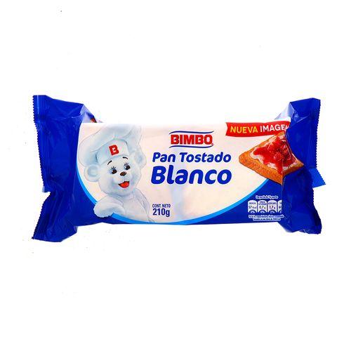 Pan Tostado Blanco Bimbo 210 Gr