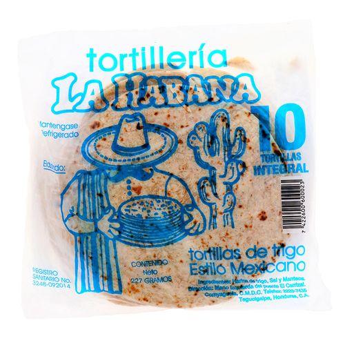 Tortillas De Harina La Habana Integrales 10 Un