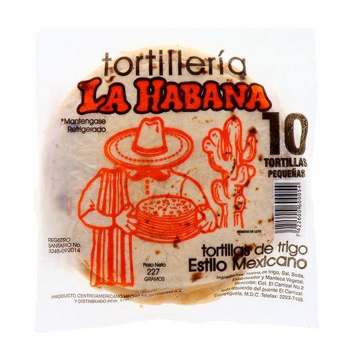 Tortillas De Harina La Habana Pequeñas 10 Un