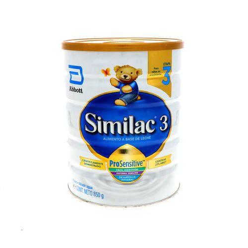 Formula Infantil Similac 3 Pro Sensitive Etapa 3 850 Gr