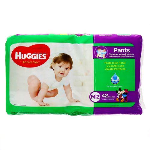Pañales Huggies Active Sec M, 42 Uds