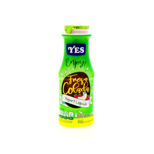 Yogurt Liquido Yes Enjoy Fresa Colada 212 Gr