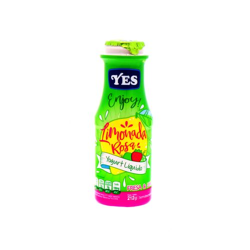 Yogurt Liquido Yes Enjoy Limonada Rosa 212 Gr