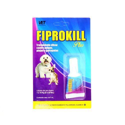 Liquido Fiprokill Contra Pulgas Piojos Y Garrapatas 0.67 Ml