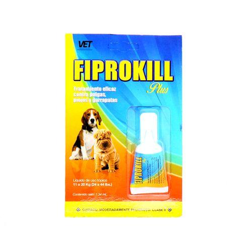 Liquido Fiprokill Contra Pulgas Piojos Y Garrapatas 1.34 Ml