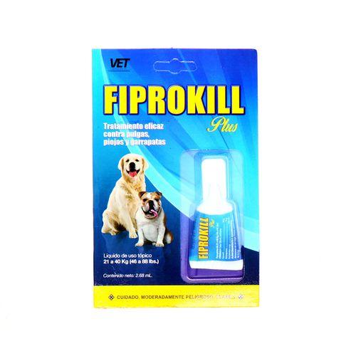 Liquido Fiprokill Contra Pulgas Piojos Y Garrapatas 2.68 Ml