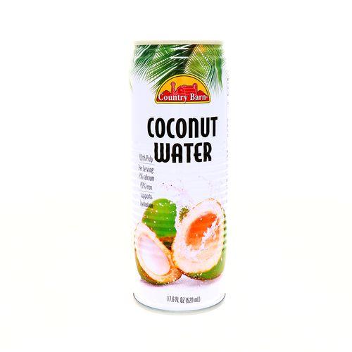 Agua De Coco Country Barn Con Pulpa 17.6 Oz
