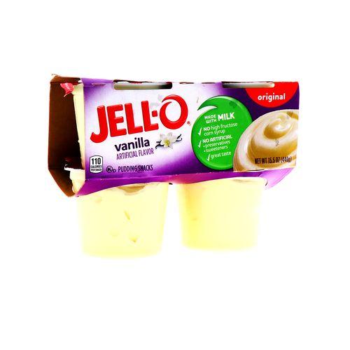 Pudding Jello Original Vainilla 4 Un/440 Gr