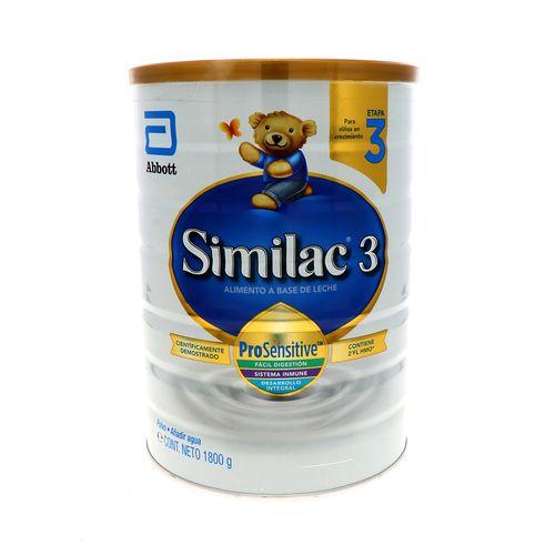 Formula Infantil Similac 3 Prosens Hmo Etapa 3 1800 Gr
