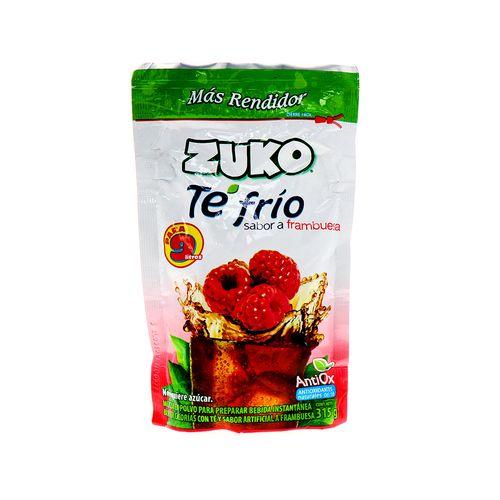 Bebida En Polvo Zuko Te Frio Sabor A Frambuesa 315 Gr