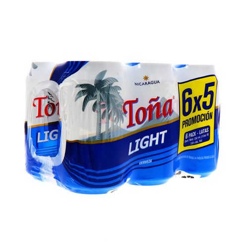 Promo Cerveza Toña Light Lata 6X5 350Ml