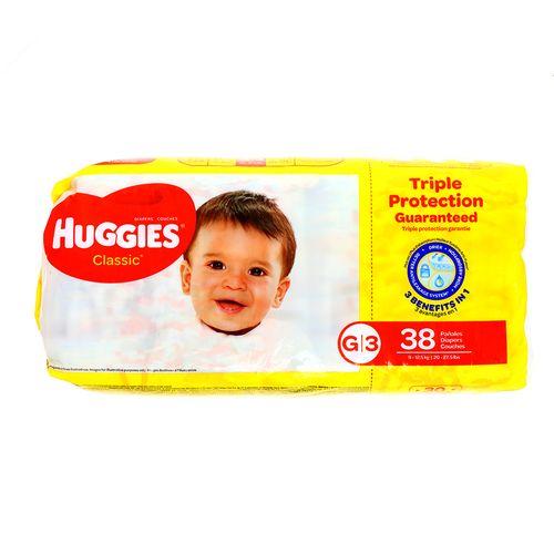 Panal Bebe Huggies Classic Triple G 38 Un